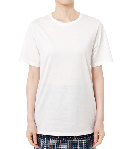 LE CIEL BLEU(ルシェルブルー)のベーシックTEE-WHITE(カットソー/cut and sewn)-18A62001 詳細画像1