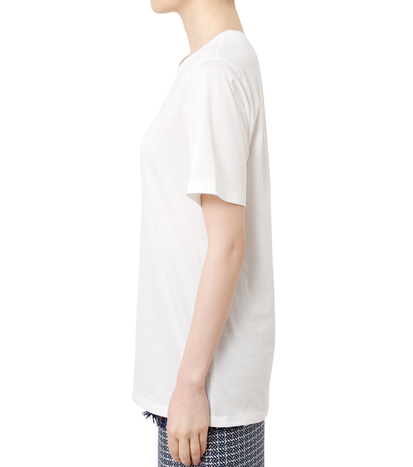 LE CIEL BLEU(ルシェルブルー)のベーシックTEE-WHITE(カットソー/cut and sewn)-18A62001 拡大詳細画像2