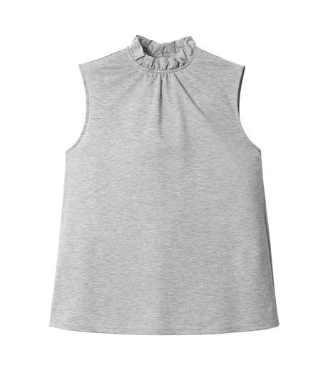 LE CIEL BLEU(ルシェルブルー)のフリルカラーノースリーブ-GRAY(カットソー/cut and sewn)-18A62004 詳細画像4