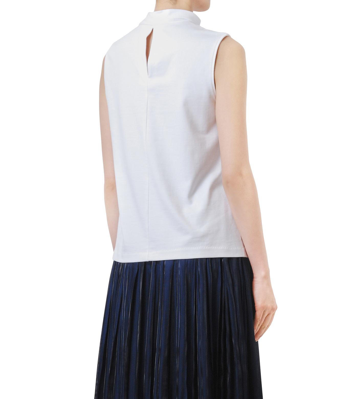 LE CIEL BLEU(ルシェルブルー)のロングボウタンクトップ-WHITE(カットソー/cut and sewn)-18A62206 拡大詳細画像2
