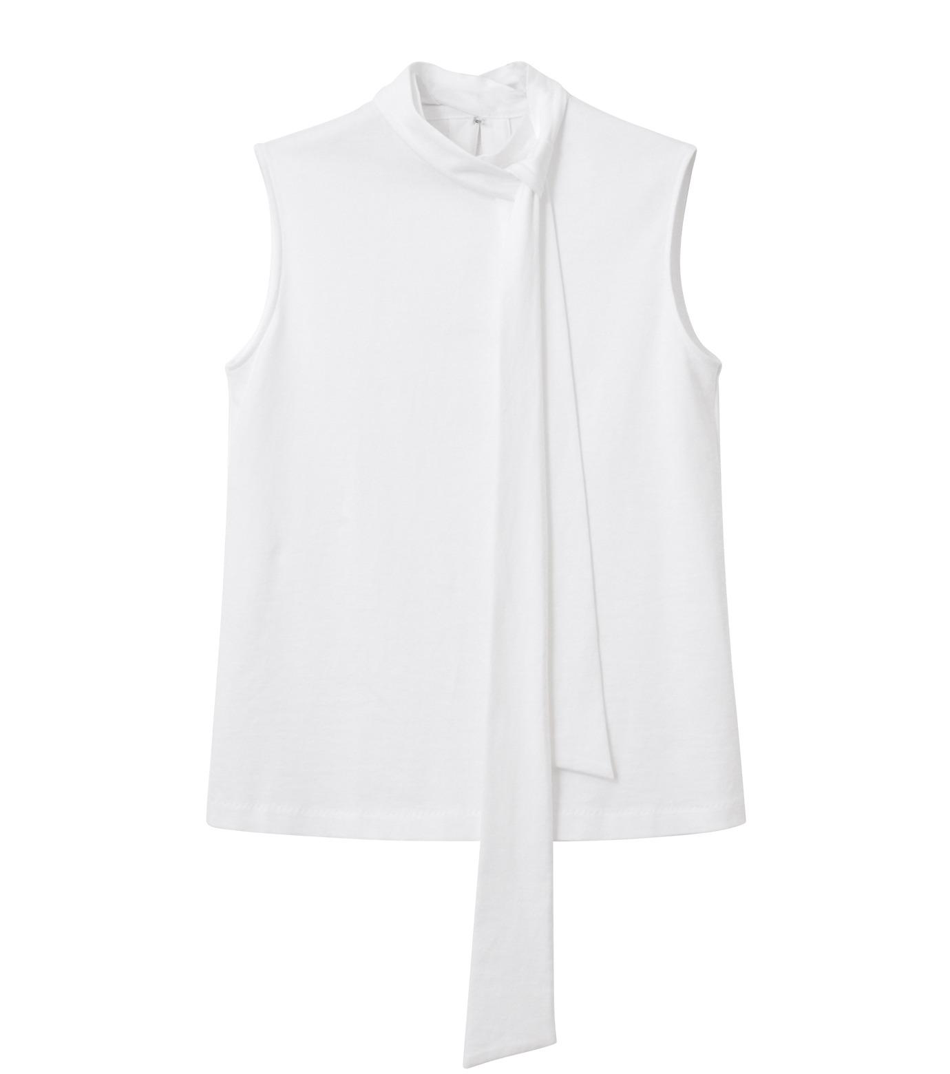 LE CIEL BLEU(ルシェルブルー)のロングボウタンクトップ-WHITE(カットソー/cut and sewn)-18A62206 拡大詳細画像4
