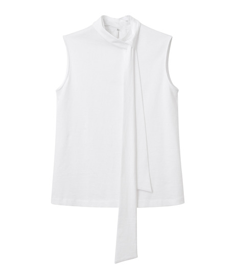 LE CIEL BLEU(ルシェルブルー)のロングボウタンクトップ-WHITE(カットソー/cut and sewn)-18A62206 詳細画像4