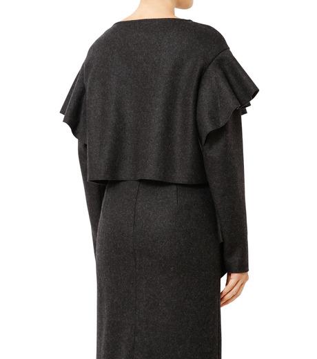LE CIEL BLEU(ルシェルブルー)のラッフルクロップトップス-CHARCHOL GRAY(カットソー/cut and sewn)-18A62515 詳細画像2
