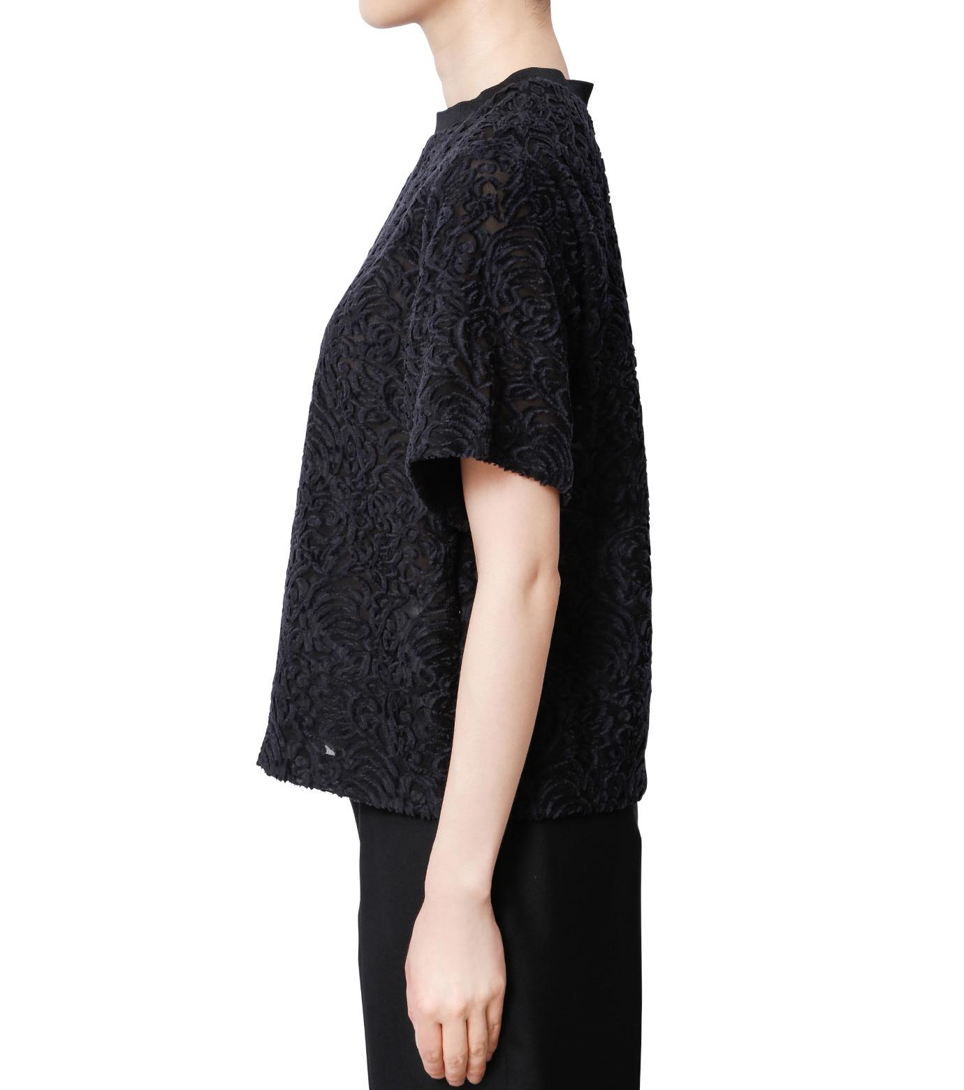 LE CIEL BLEU(ルシェルブルー)のカットジャガードトップス-BLACK(シャツ/shirt)-18A63001 拡大詳細画像2