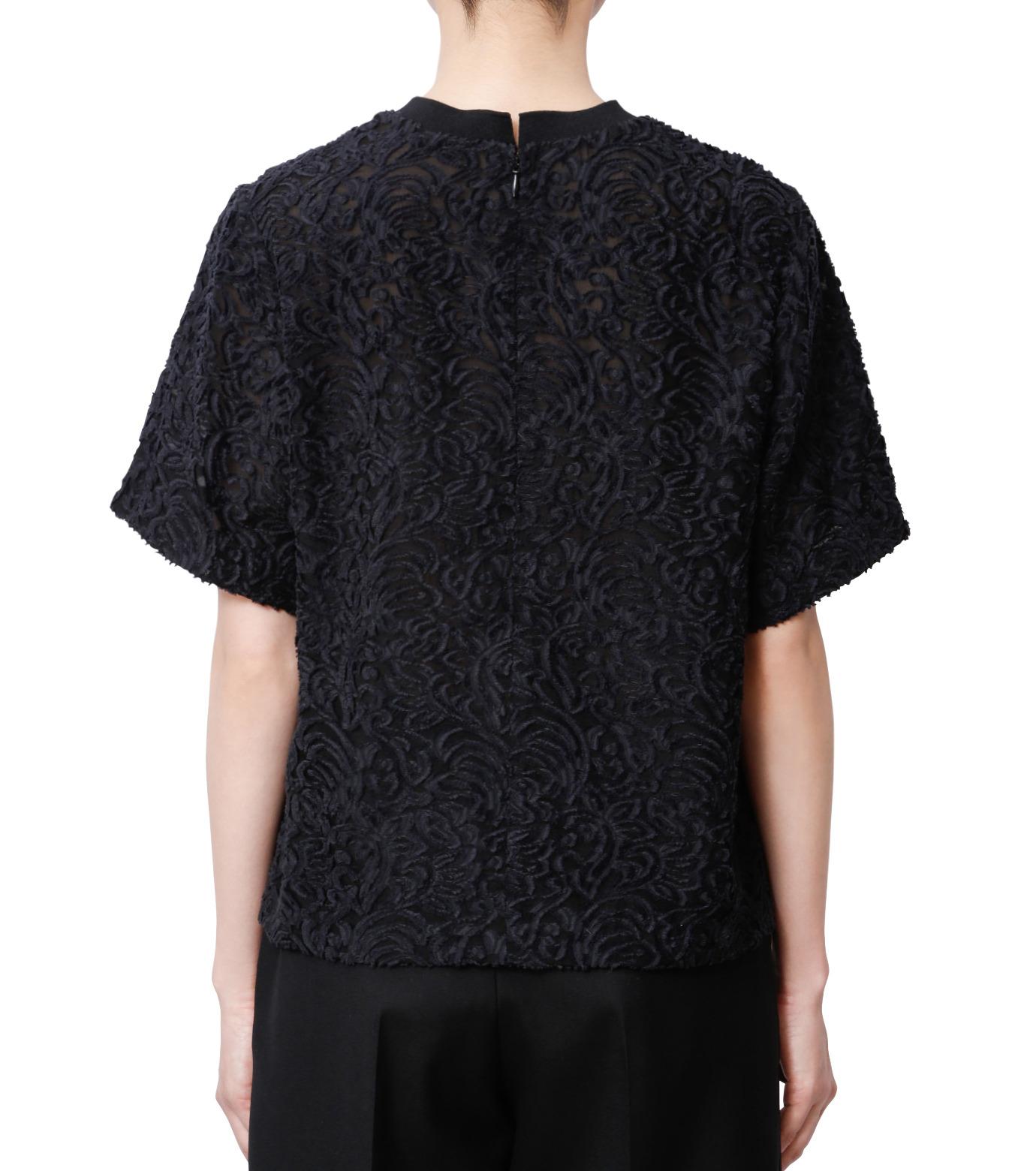 LE CIEL BLEU(ルシェルブルー)のカットジャガードトップス-BLACK(シャツ/shirt)-18A63001 拡大詳細画像3