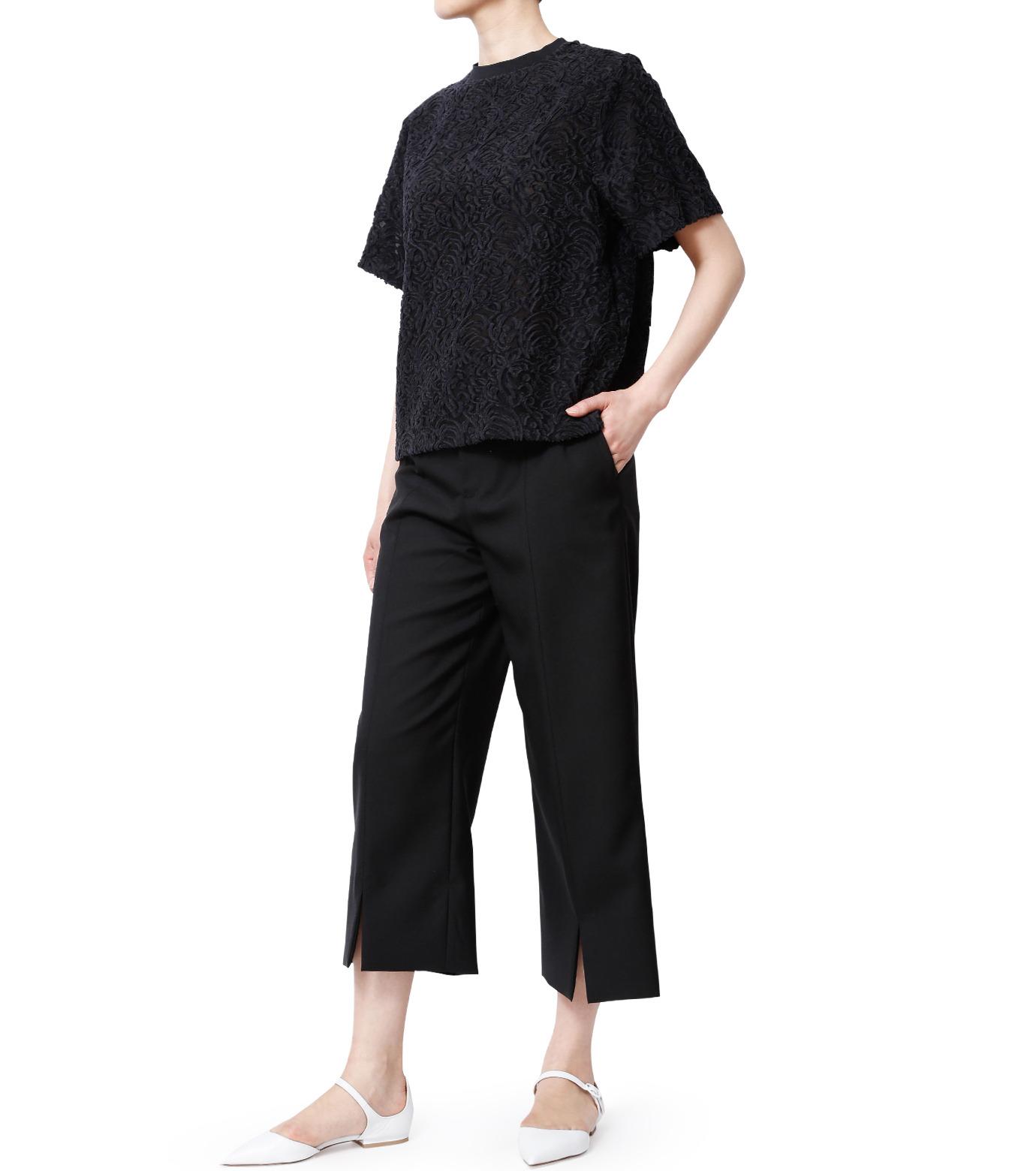 LE CIEL BLEU(ルシェルブルー)のカットジャガードトップス-BLACK(シャツ/shirt)-18A63001 拡大詳細画像4