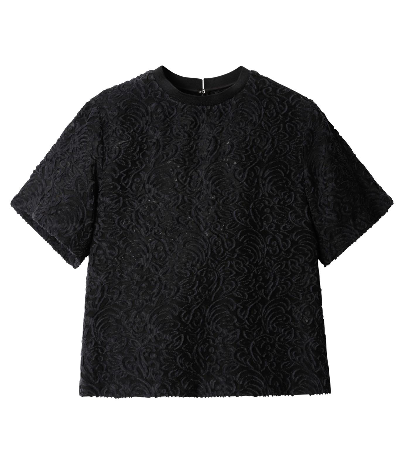 LE CIEL BLEU(ルシェルブルー)のカットジャガードトップス-BLACK(シャツ/shirt)-18A63001 拡大詳細画像5