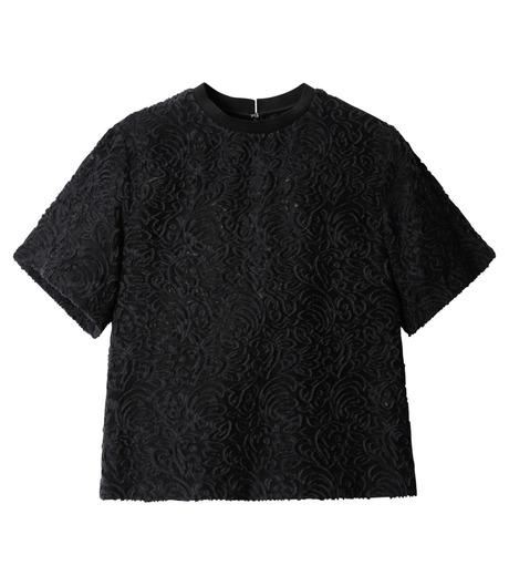 LE CIEL BLEU(ルシェルブルー)のカットジャガードトップス-BLACK(シャツ/shirt)-18A63001 詳細画像5