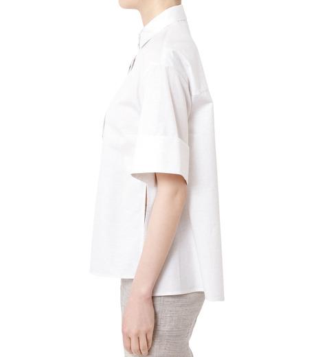 LE CIEL BLEU(ルシェルブルー)のAラインボードシャツ-WHITE(シャツ/shirt)-18A63004 詳細画像2