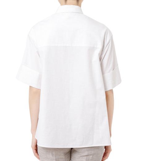 LE CIEL BLEU(ルシェルブルー)のAラインボードシャツ-WHITE(シャツ/shirt)-18A63004 詳細画像3