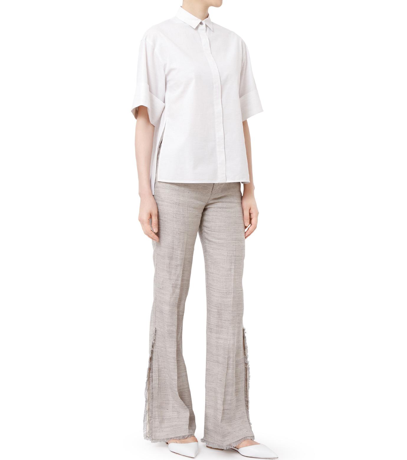 LE CIEL BLEU(ルシェルブルー)のAラインボードシャツ-WHITE(シャツ/shirt)-18A63004 拡大詳細画像4