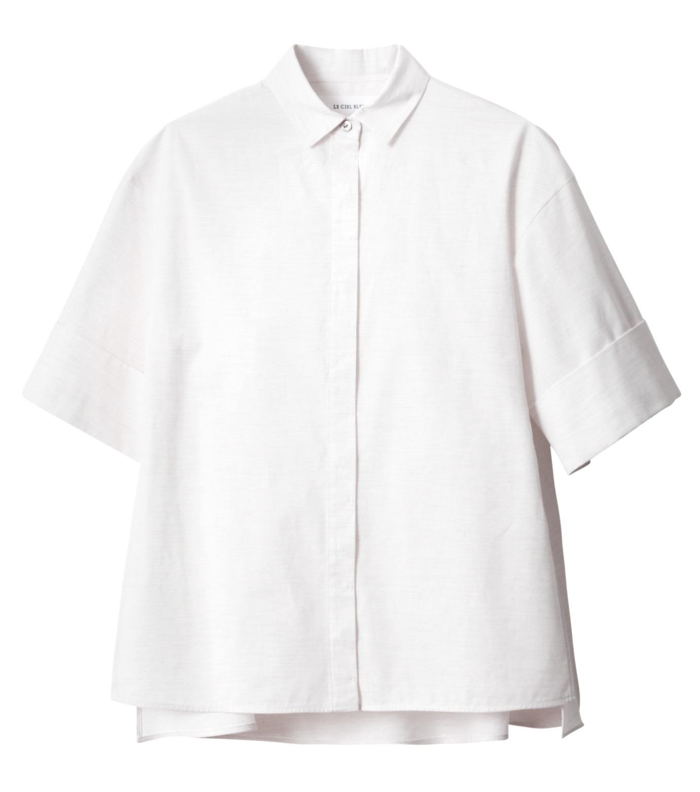 LE CIEL BLEU(ルシェルブルー)のAラインボードシャツ-WHITE(シャツ/shirt)-18A63004 拡大詳細画像5
