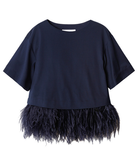 LE CIEL BLEU(ルシェルブルー)のフェザートップス-NAVY(カットソー/cut and sewn)-18A63019 詳細画像1