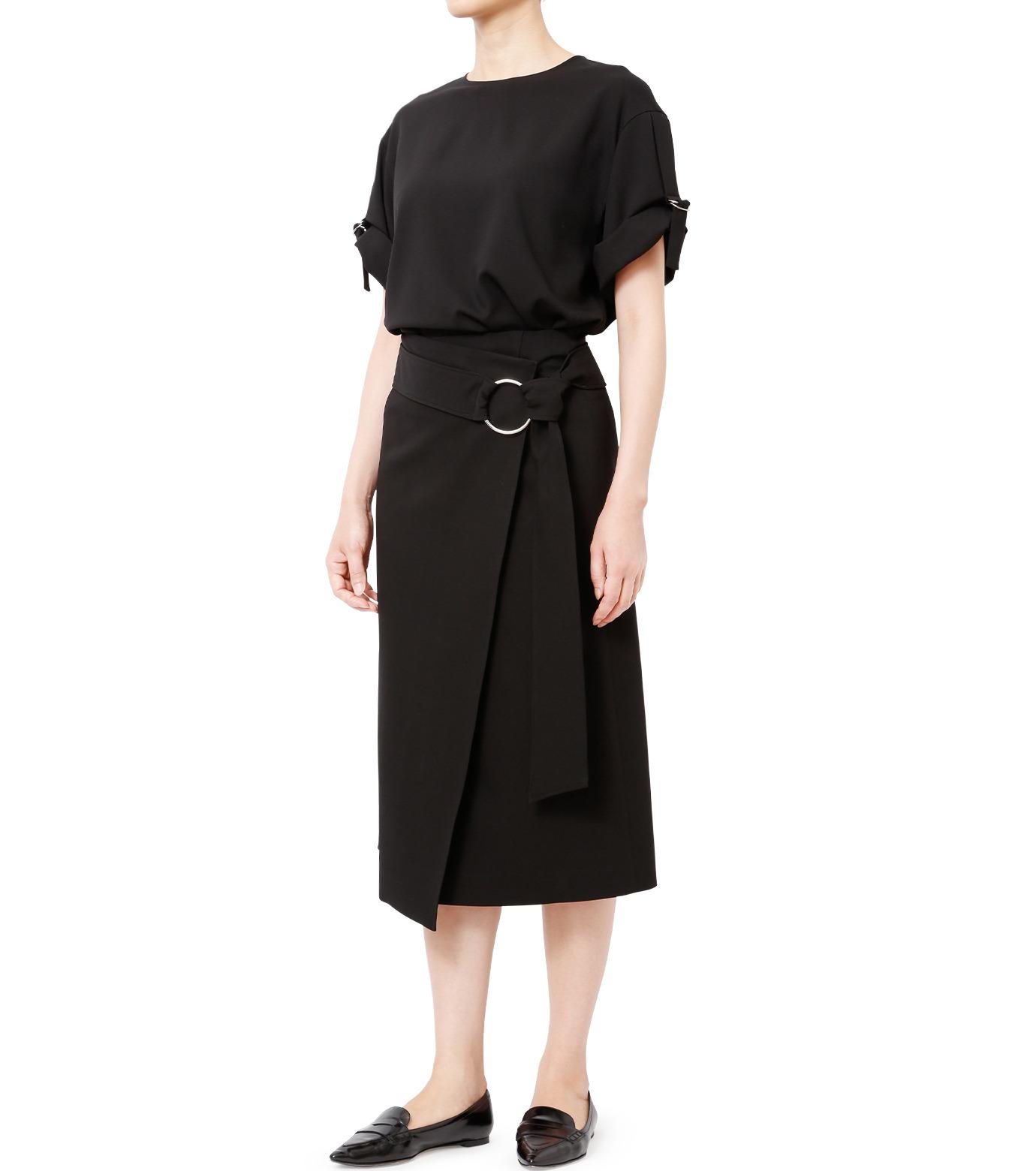 LE CIEL BLEU(ルシェルブルー)のテープモチーフジョーゼットトップス-BLACK(シャツ/shirt)-18A63209 拡大詳細画像3