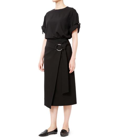 LE CIEL BLEU(ルシェルブルー)のテープモチーフジョーゼットトップス-BLACK(シャツ/shirt)-18A63209 詳細画像3