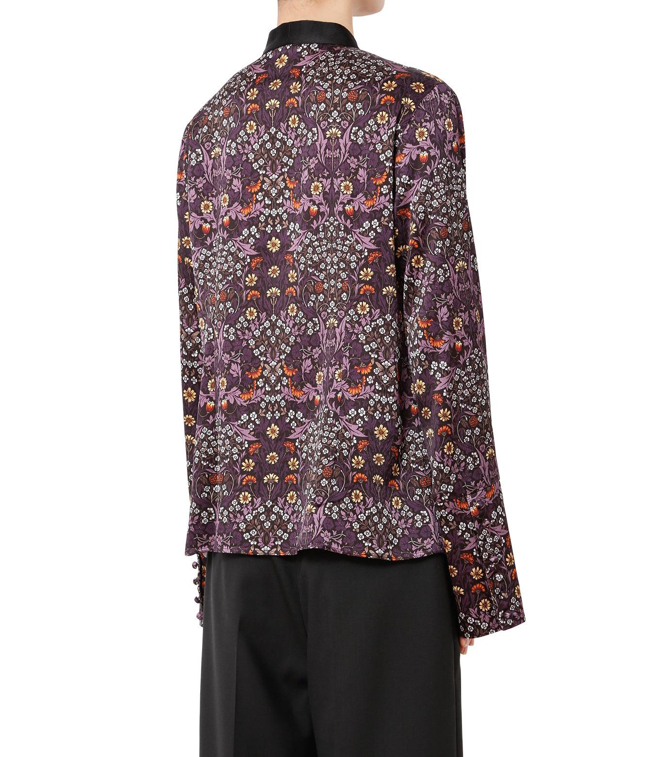 LE CIEL BLEU(ルシェルブルー)のダークフラワープリントボウトップス-MULTI COLOUR(シャツ/shirt)-18A63311 拡大詳細画像2