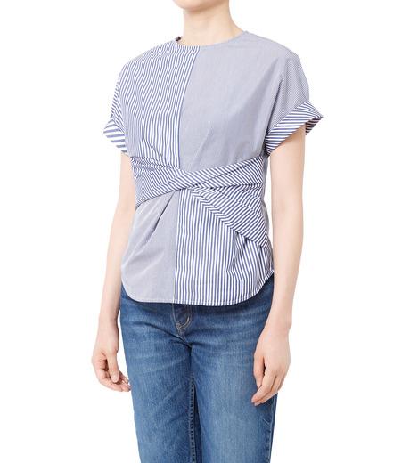 LE CIEL BLEU(ルシェルブルー)のストライプツイストトップス-MULTI COLOUR(シャツ/shirt)-18A63313 詳細画像1