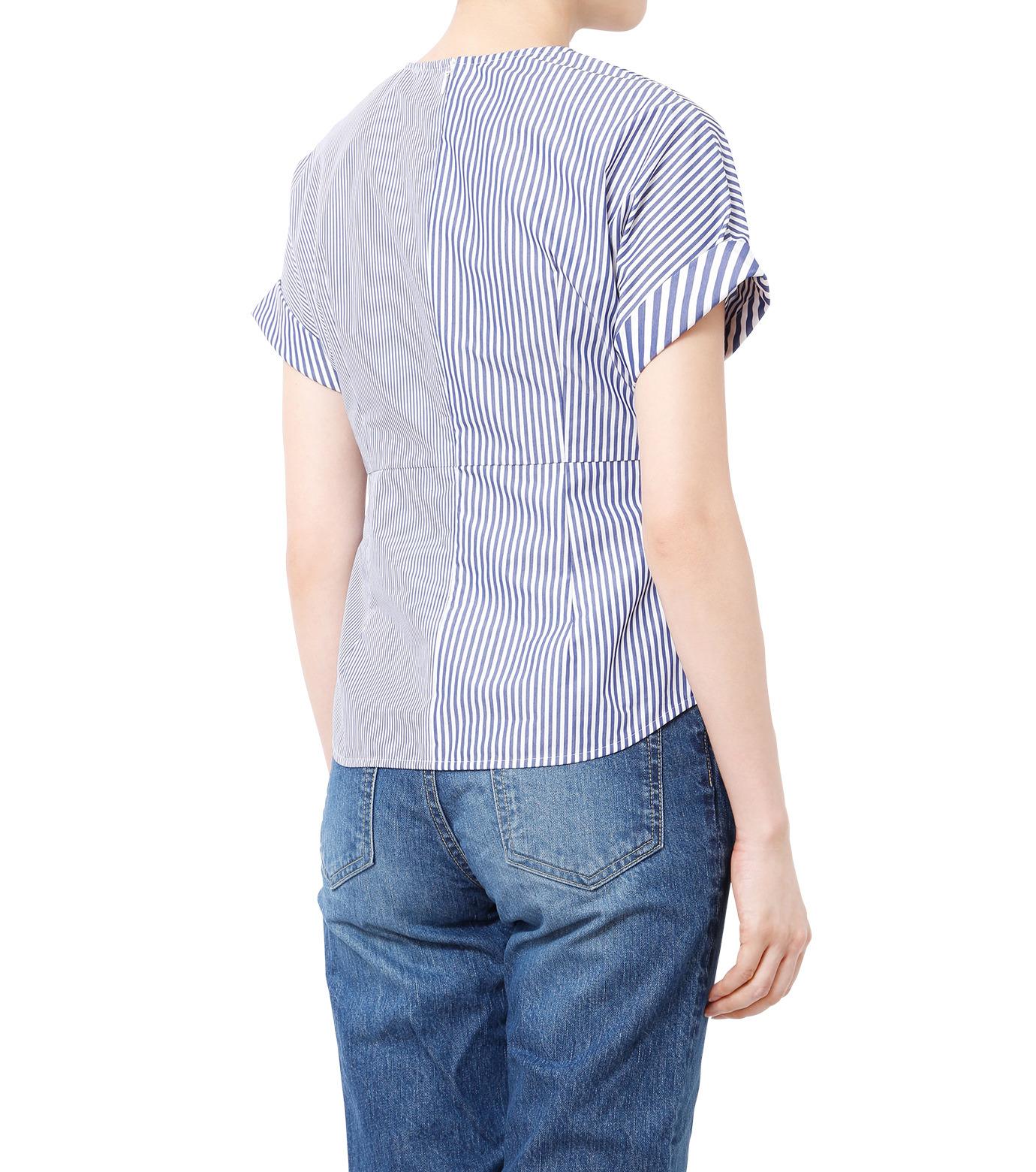 LE CIEL BLEU(ルシェルブルー)のストライプツイストトップス-MULTI COLOUR(シャツ/shirt)-18A63313 拡大詳細画像2