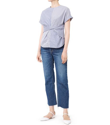 LE CIEL BLEU(ルシェルブルー)のストライプツイストトップス-MULTI COLOUR(シャツ/shirt)-18A63313 詳細画像3