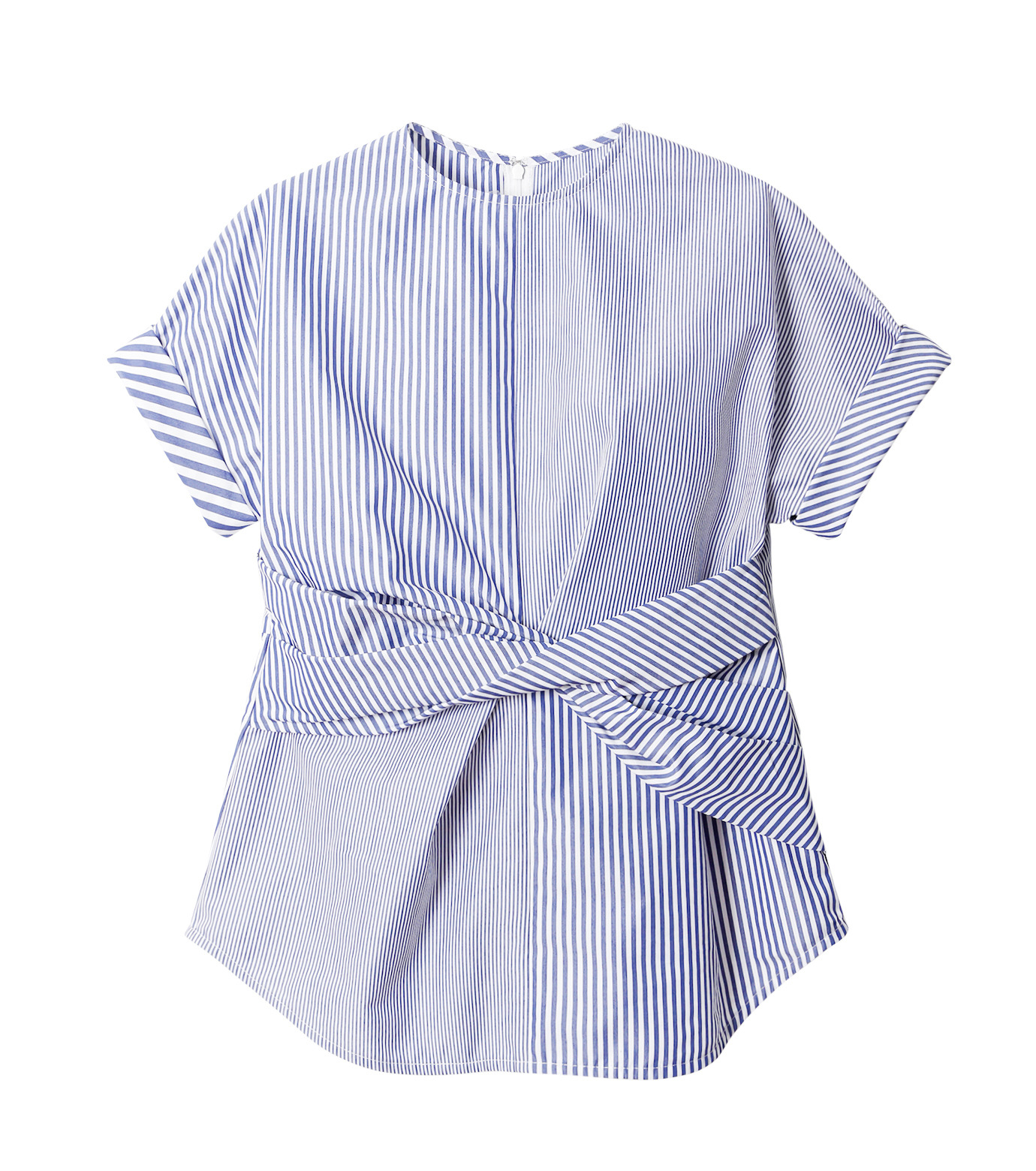 LE CIEL BLEU(ルシェルブルー)のストライプツイストトップス-MULTI COLOUR(シャツ/shirt)-18A63313 拡大詳細画像4