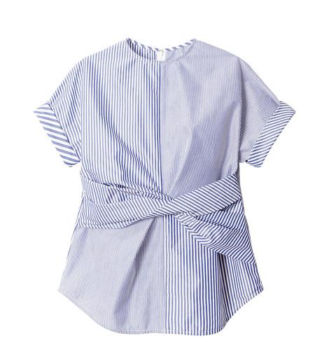 LE CIEL BLEU(ルシェルブルー)のストライプツイストトップス-MULTI COLOUR(シャツ/shirt)-18A63313 詳細画像4