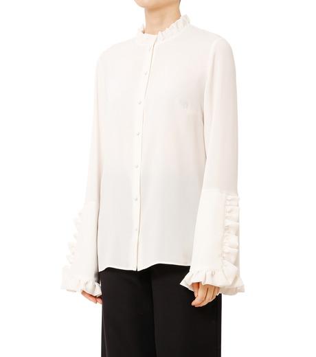 LE CIEL BLEU(ルシェルブルー)のフリルブラウス-WHITE(シャツ/shirt)-18A63416 詳細画像1