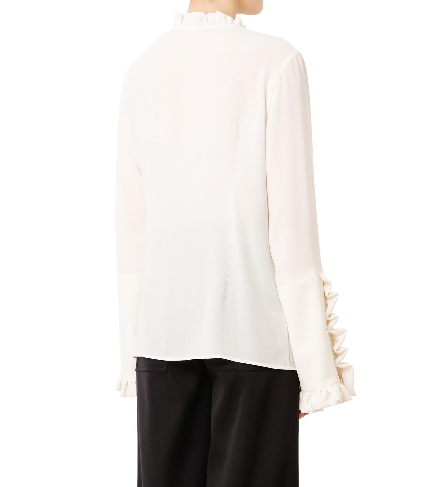 LE CIEL BLEU(ルシェルブルー)のフリルブラウス-WHITE(シャツ/shirt)-18A63416 拡大詳細画像2