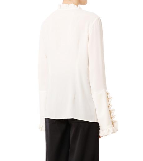 LE CIEL BLEU(ルシェルブルー)のフリルブラウス-WHITE(シャツ/shirt)-18A63416 詳細画像2