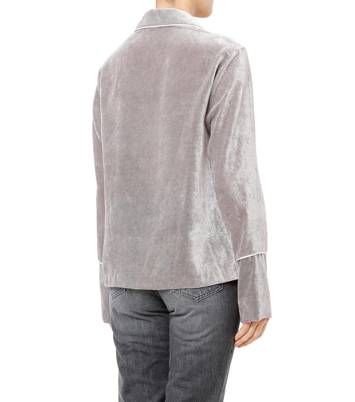 LE CIEL BLEU(ルシェルブルー)のルーズベルベットシャツ-GRAY(シャツ/shirt)-18A63417 拡大詳細画像2