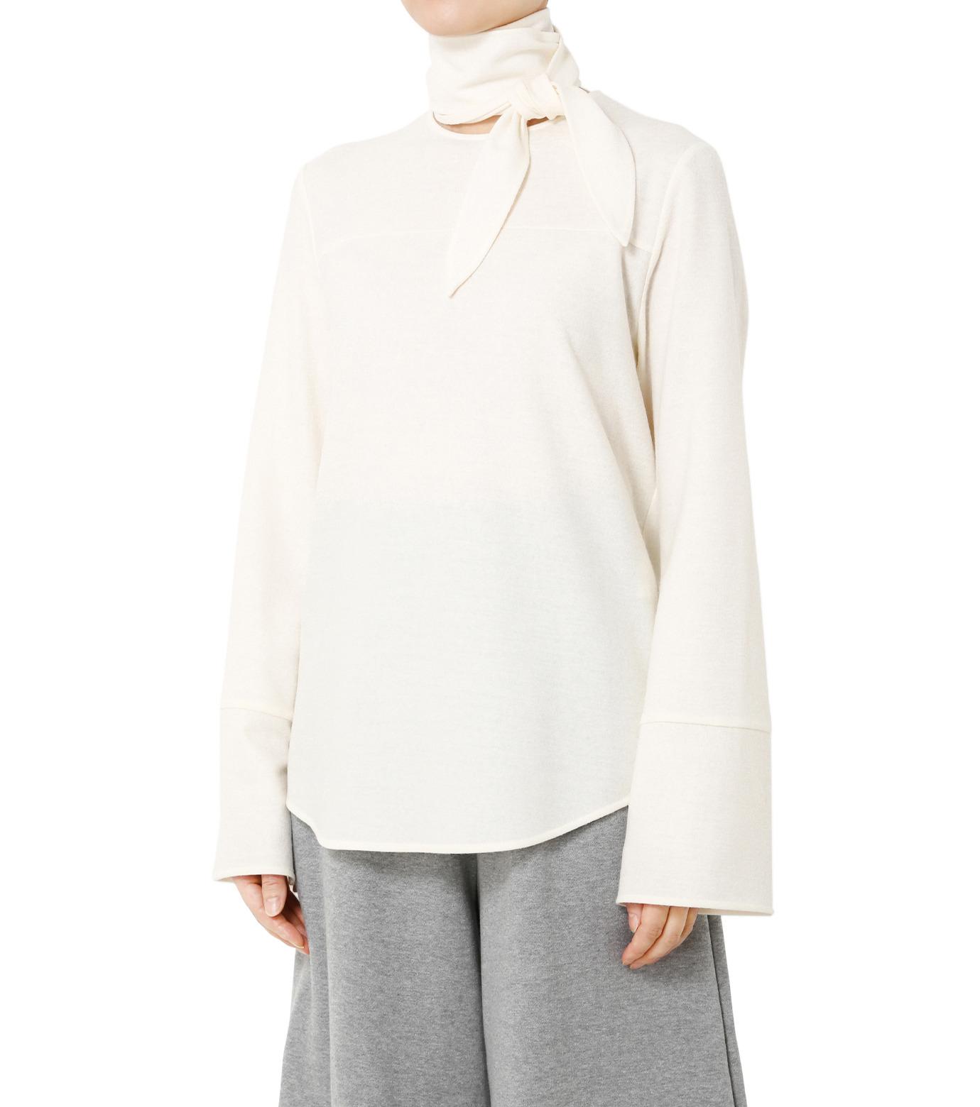 LE CIEL BLEU(ルシェルブルー)のショートボウブラウス-WHITE(シャツ/shirt)-18A63622 拡大詳細画像1