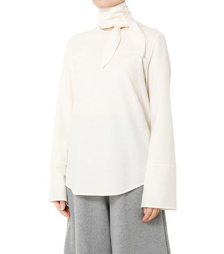 LE CIEL BLEU(ルシェルブルー)のショートボウブラウス-WHITE(シャツ/shirt)-18A63622 詳細画像1