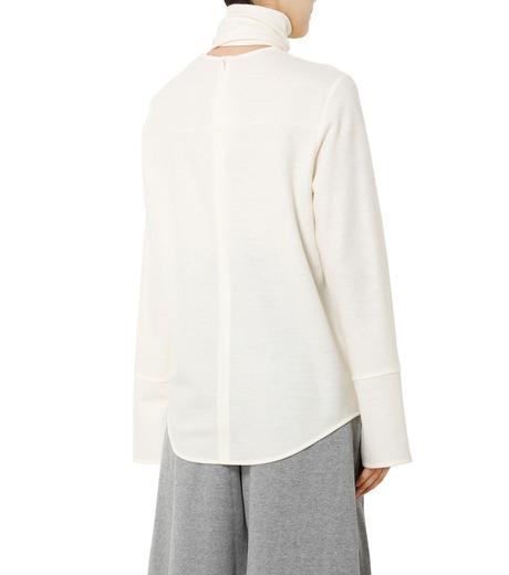 LE CIEL BLEU(ルシェルブルー)のショートボウブラウス-WHITE(シャツ/shirt)-18A63622 詳細画像2