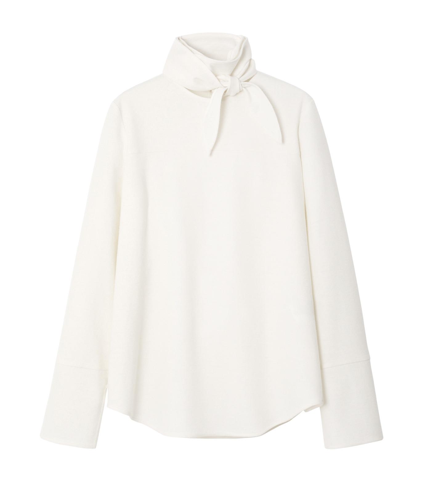 LE CIEL BLEU(ルシェルブルー)のショートボウブラウス-WHITE(シャツ/shirt)-18A63622 拡大詳細画像4