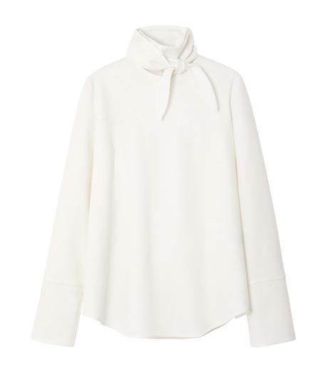 LE CIEL BLEU(ルシェルブルー)のショートボウブラウス-WHITE(シャツ/shirt)-18A63622 詳細画像4