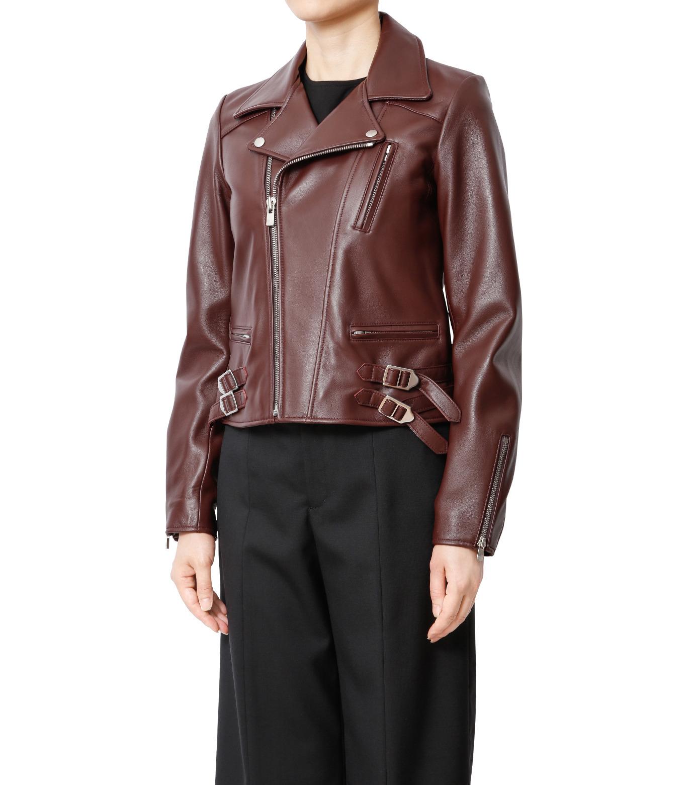 LE CIEL BLEU(ルシェルブルー)のラムレザーライダース-BORDEAUX(ジャケット/jacket)-18A64002 拡大詳細画像1