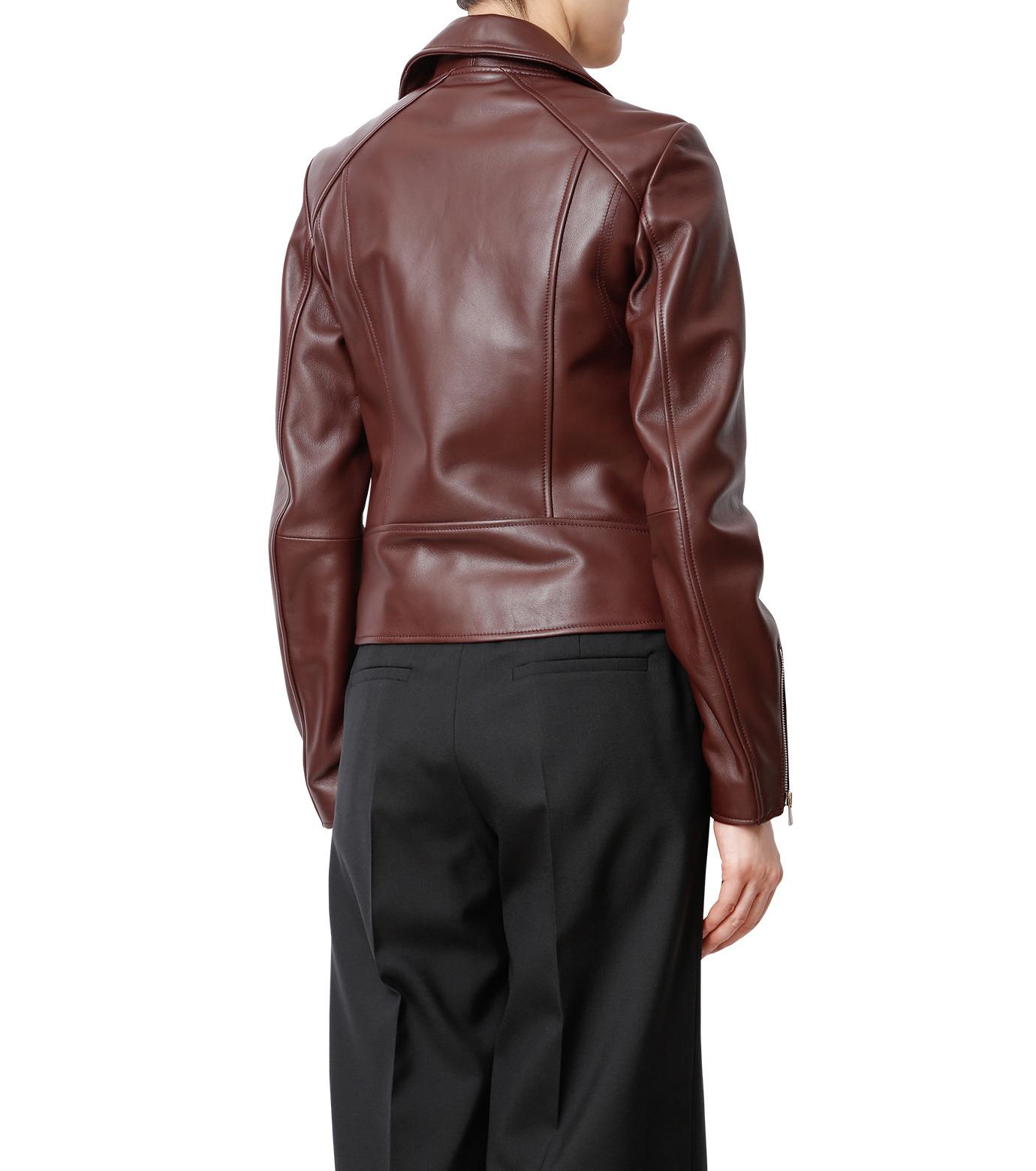 LE CIEL BLEU(ルシェルブルー)のラムレザーライダース-BORDEAUX(ジャケット/jacket)-18A64002 拡大詳細画像2