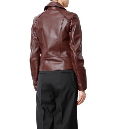 LE CIEL BLEU(ルシェルブルー)のラムレザーライダース-BORDEAUX(ジャケット/jacket)-18A64002 詳細画像2