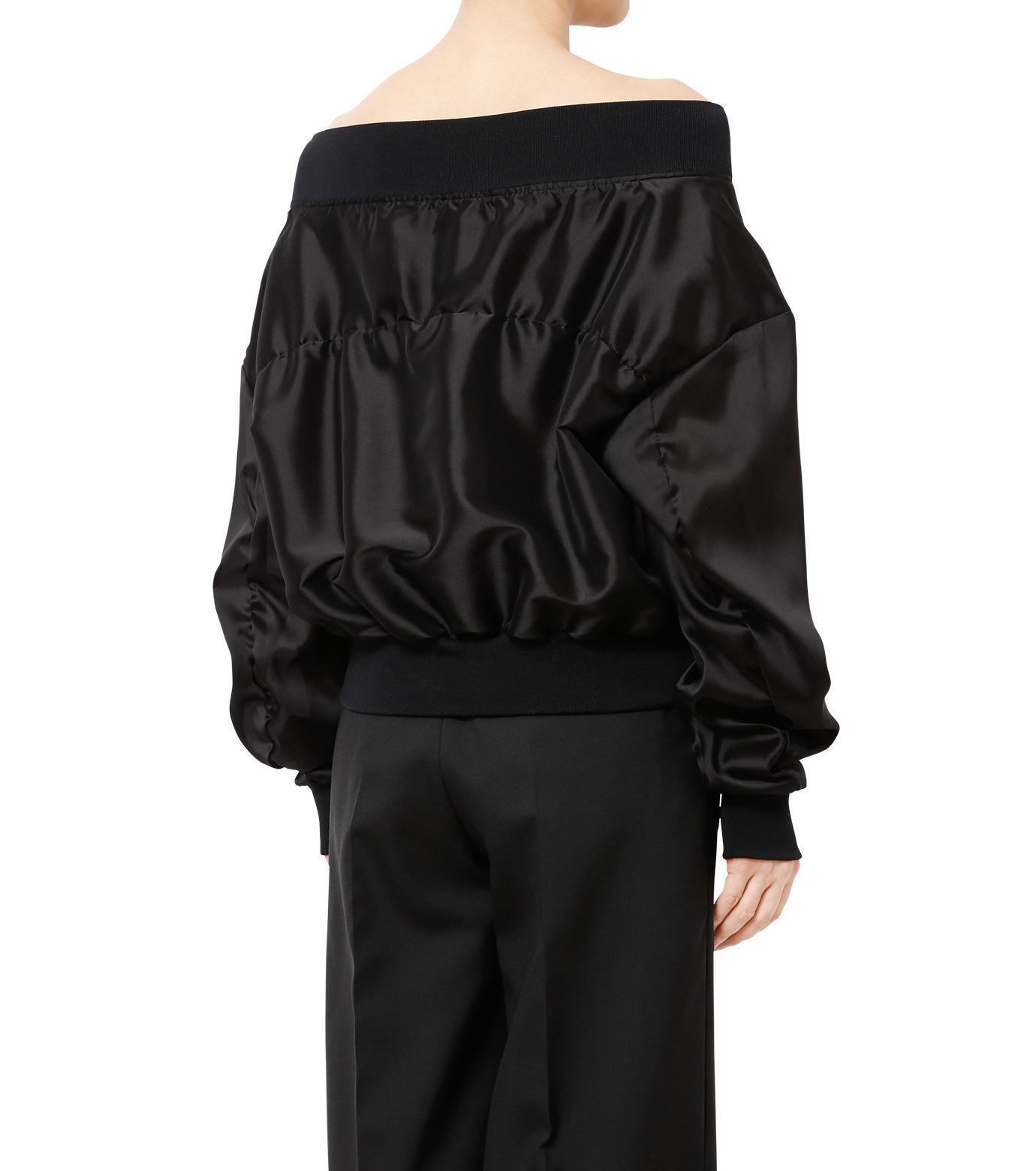LE CIEL BLEU(ルシェルブルー)のシアーオフショルダーブルゾン-BLACK(ジャケット/jacket)-18A64003 拡大詳細画像2