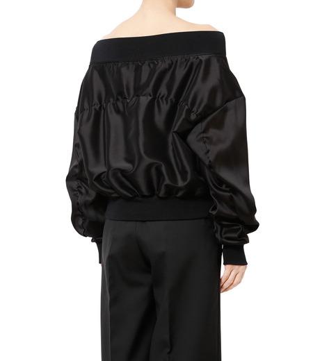 LE CIEL BLEU(ルシェルブルー)のシアーオフショルダーブルゾン-BLACK(ジャケット/jacket)-18A64003 詳細画像2