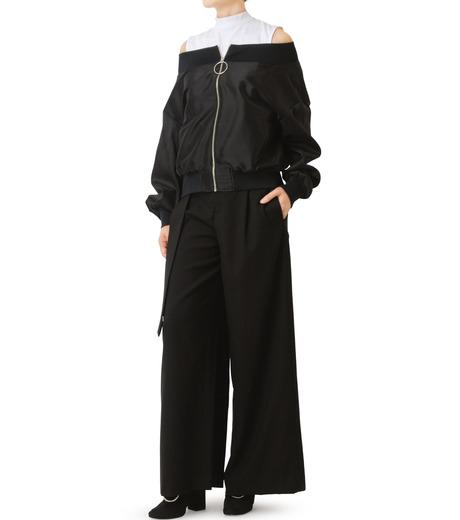 LE CIEL BLEU(ルシェルブルー)のシアーオフショルダーブルゾン-BLACK(ジャケット/jacket)-18A64003 詳細画像3