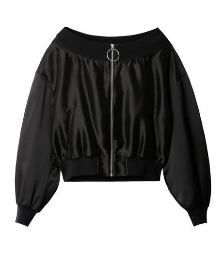 LE CIEL BLEU(ルシェルブルー)のシアーオフショルダーブルゾン-BLACK(ジャケット/jacket)-18A64003 詳細画像5