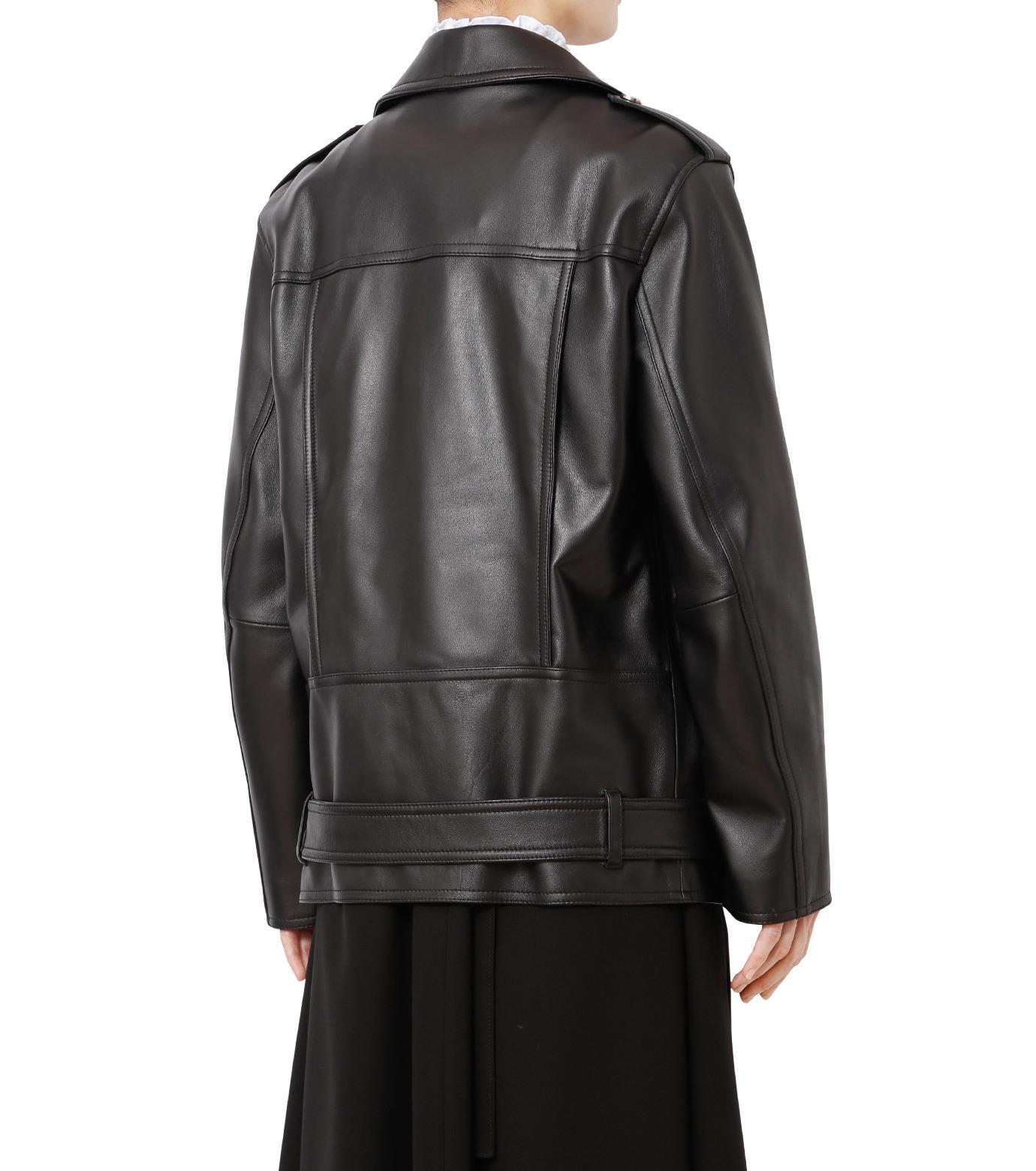 LE CIEL BLEU(ルシェルブルー)のレザーライダースジャケット-BLACK(ジャケット/jacket)-18A64004 拡大詳細画像2