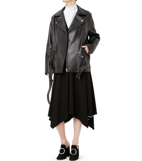 LE CIEL BLEU(ルシェルブルー)のレザーライダースジャケット-BLACK(ジャケット/jacket)-18A64004 詳細画像3