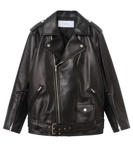 LE CIEL BLEU(ルシェルブルー)のレザーライダースジャケット-BLACK(ジャケット/jacket)-18A64004 詳細画像4