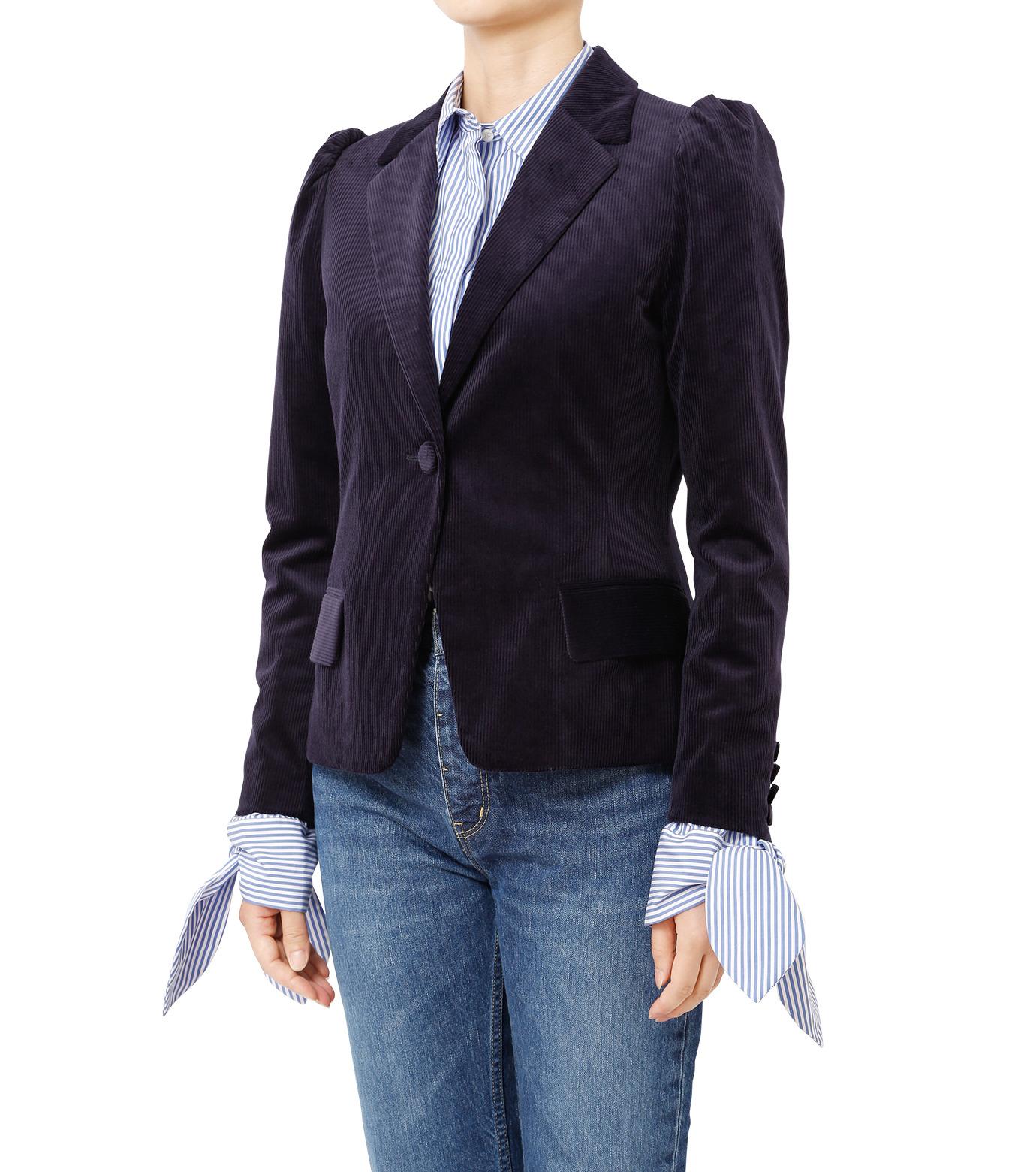 LE CIEL BLEU(ルシェルブルー)のコーディロイパフジャケット-NAVY(ジャケット/jacket)-18A64305 拡大詳細画像1