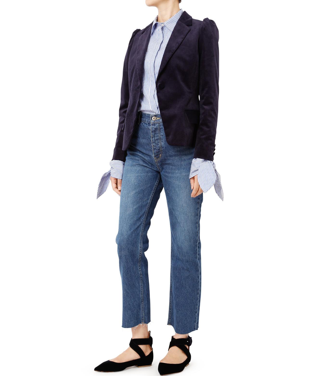 LE CIEL BLEU(ルシェルブルー)のコーディロイパフジャケット-NAVY(ジャケット/jacket)-18A64305 拡大詳細画像3