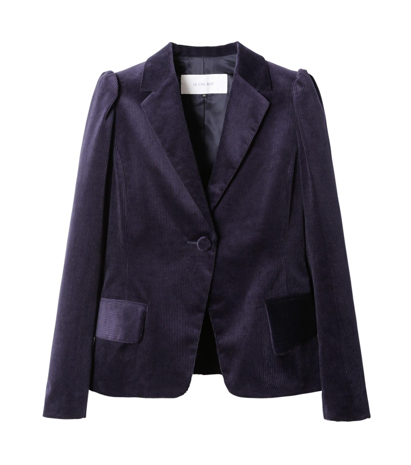 LE CIEL BLEU(ルシェルブルー)のコーディロイパフジャケット-NAVY(ジャケット/jacket)-18A64305 拡大詳細画像4