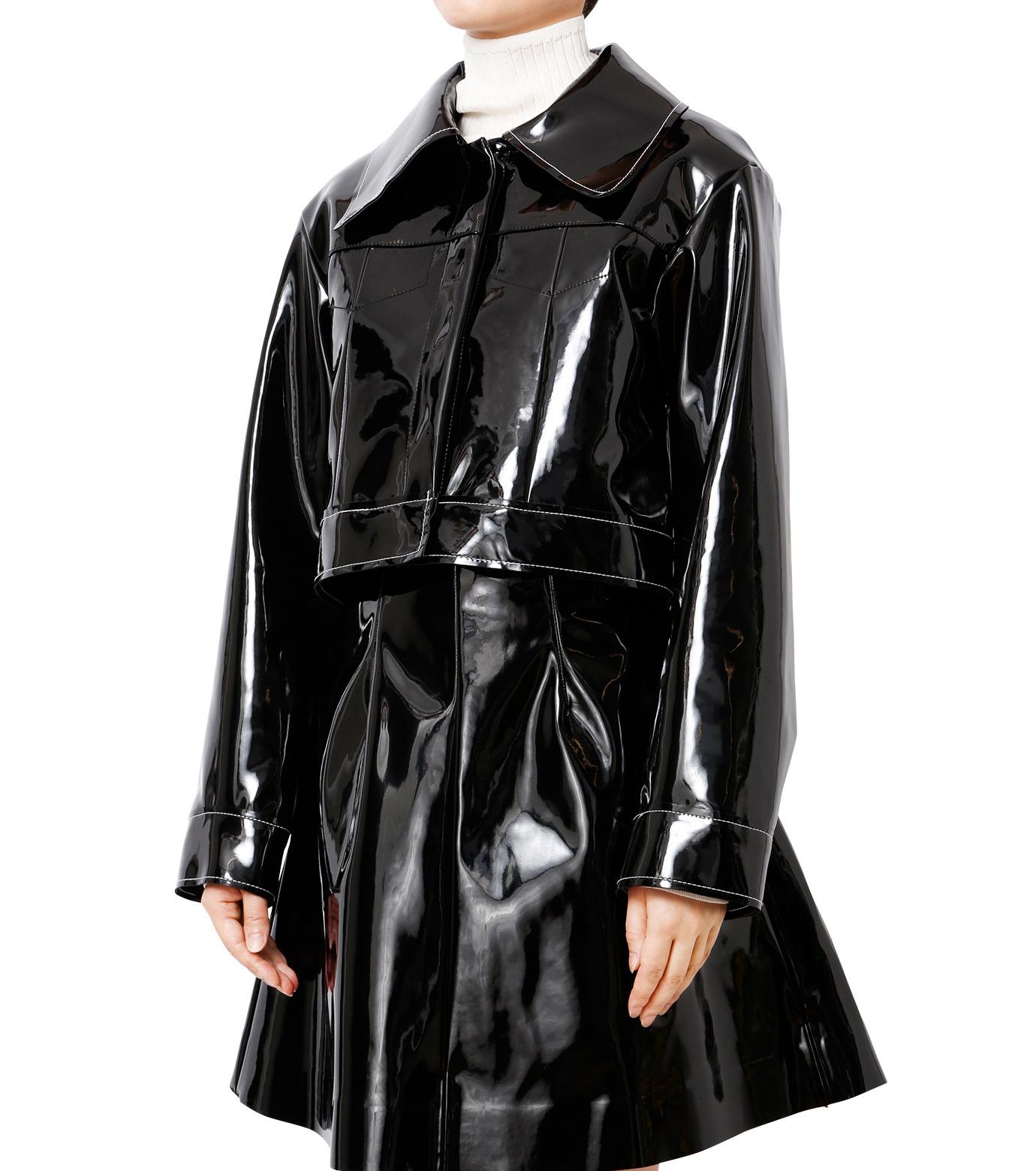 LE CIEL BLEU(ルシェルブルー)のフェイクエナメルビッグブルゾン-BLACK(ジャケット/jacket)-18A64407 拡大詳細画像1