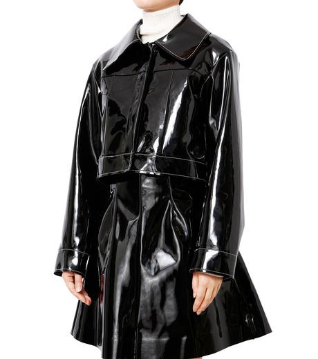 LE CIEL BLEU(ルシェルブルー)のフェイクエナメルビッグブルゾン-BLACK(ジャケット/jacket)-18A64407 詳細画像1