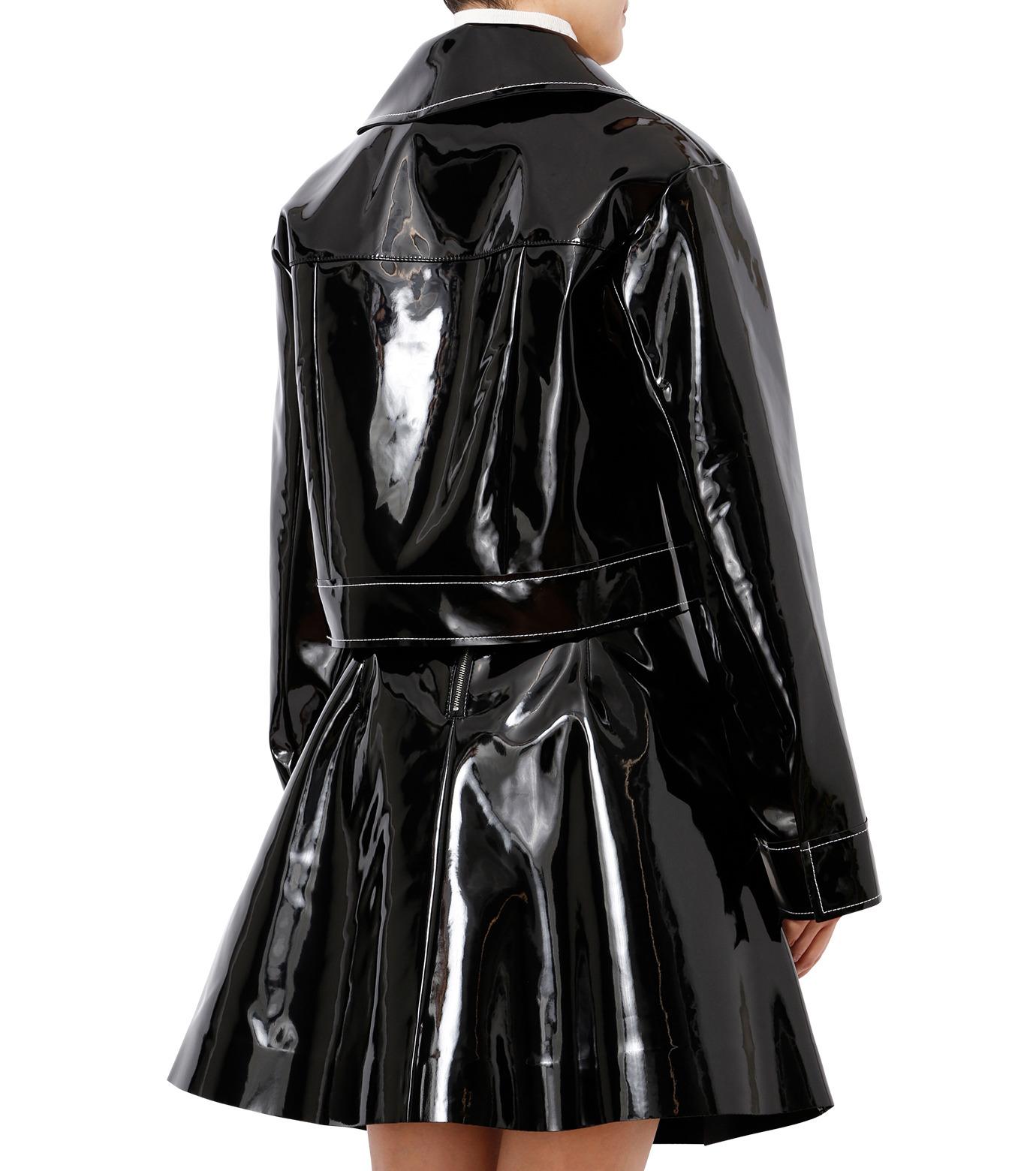 LE CIEL BLEU(ルシェルブルー)のフェイクエナメルビッグブルゾン-BLACK(ジャケット/jacket)-18A64407 拡大詳細画像2
